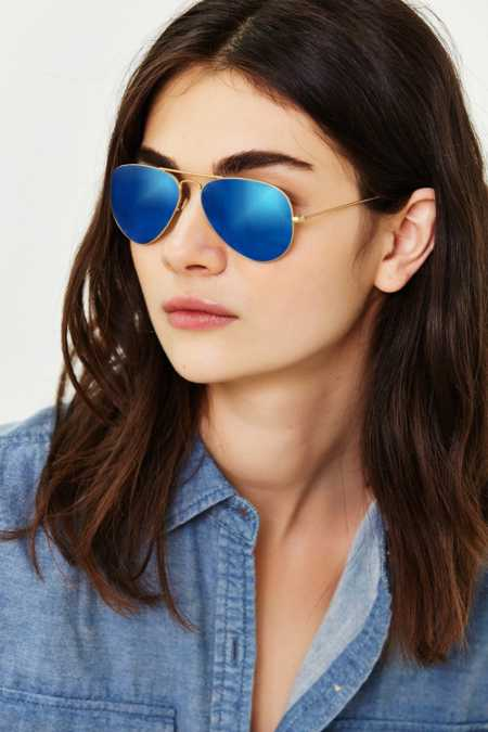 Ray Ban Mirrored Aviator Sunglasses  ray ban mirrored aviator lilac sunglasses