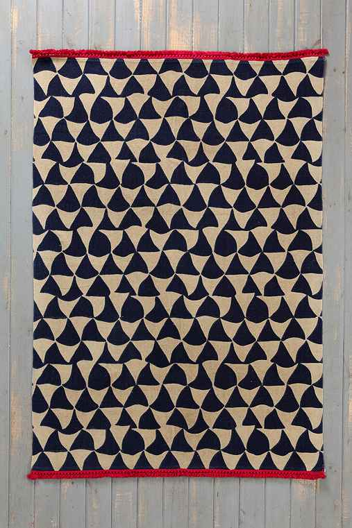 Magical Thinking Wavy Triangle Handmade Rug