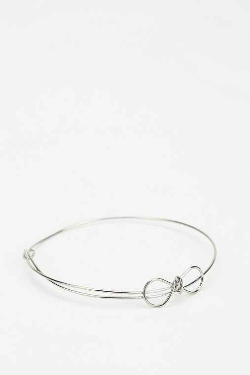 Diament Jewelry For Urban Renewal Silver Bow Bracelet