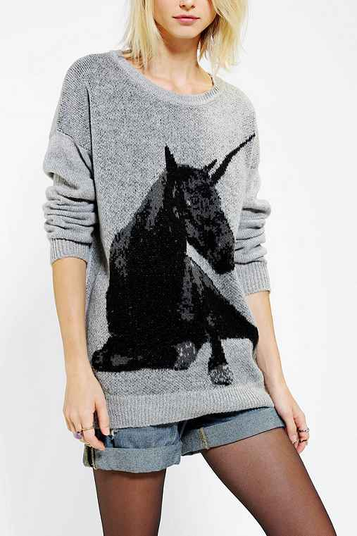 Sparkle & Fade Unicorn Sweater