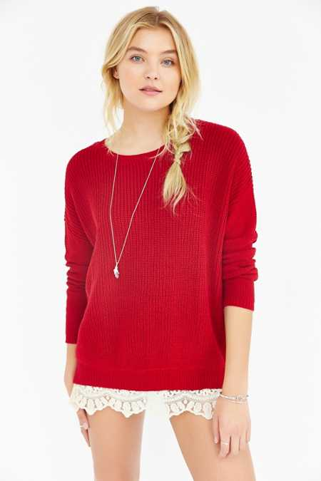 Pins And Needles Lace-Trim Sweater