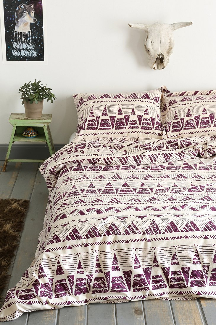 Magical thinking stamped geo point duvet cover urban Magical thinking bedding