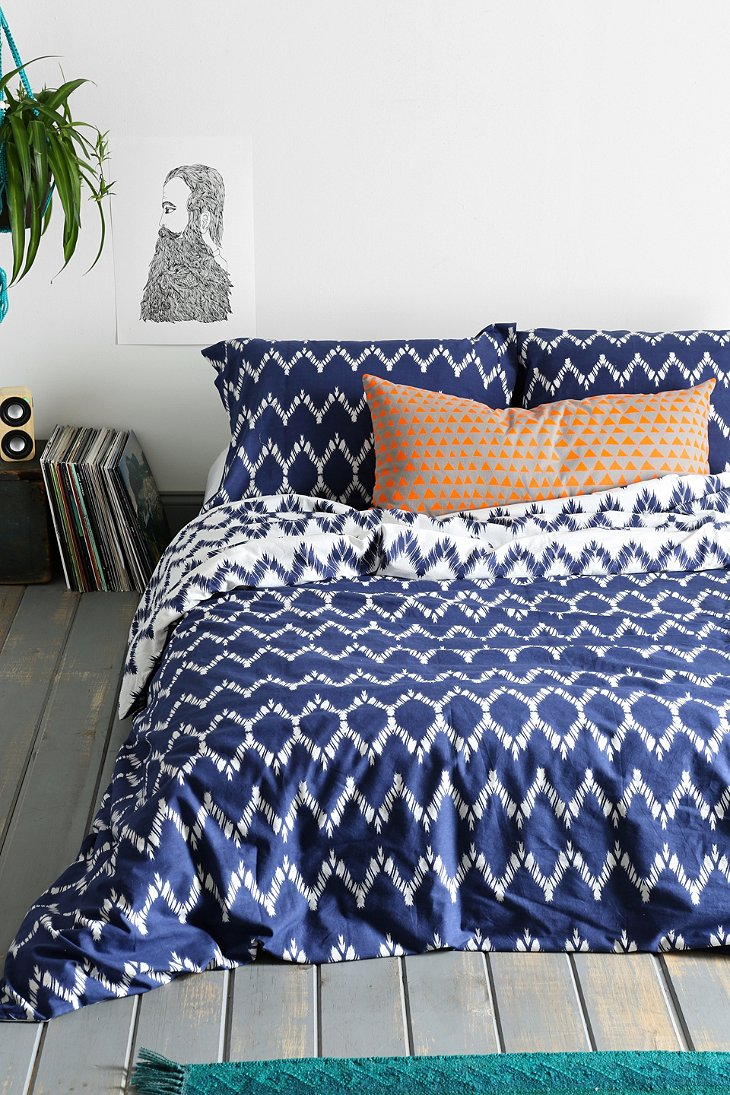 Magical thinking chevron duvet cover urban outfitters Magical thinking bedding