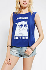 Grumpy Cat I Hate Mondays Muscle Tee