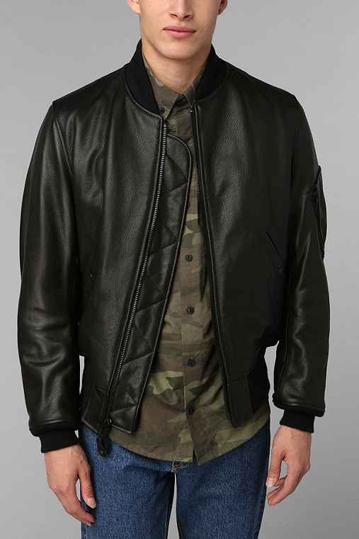 Schott MA-1 Bomber Leather Jacket