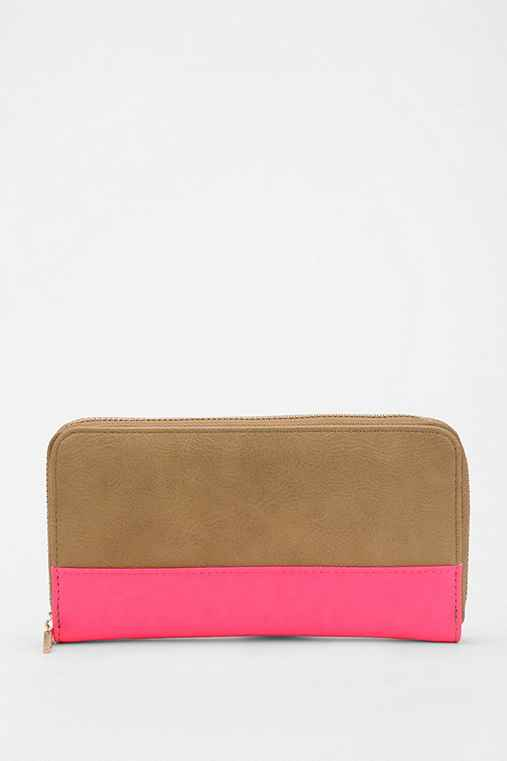 Cooperative Colorblock Zip-Around Wallet