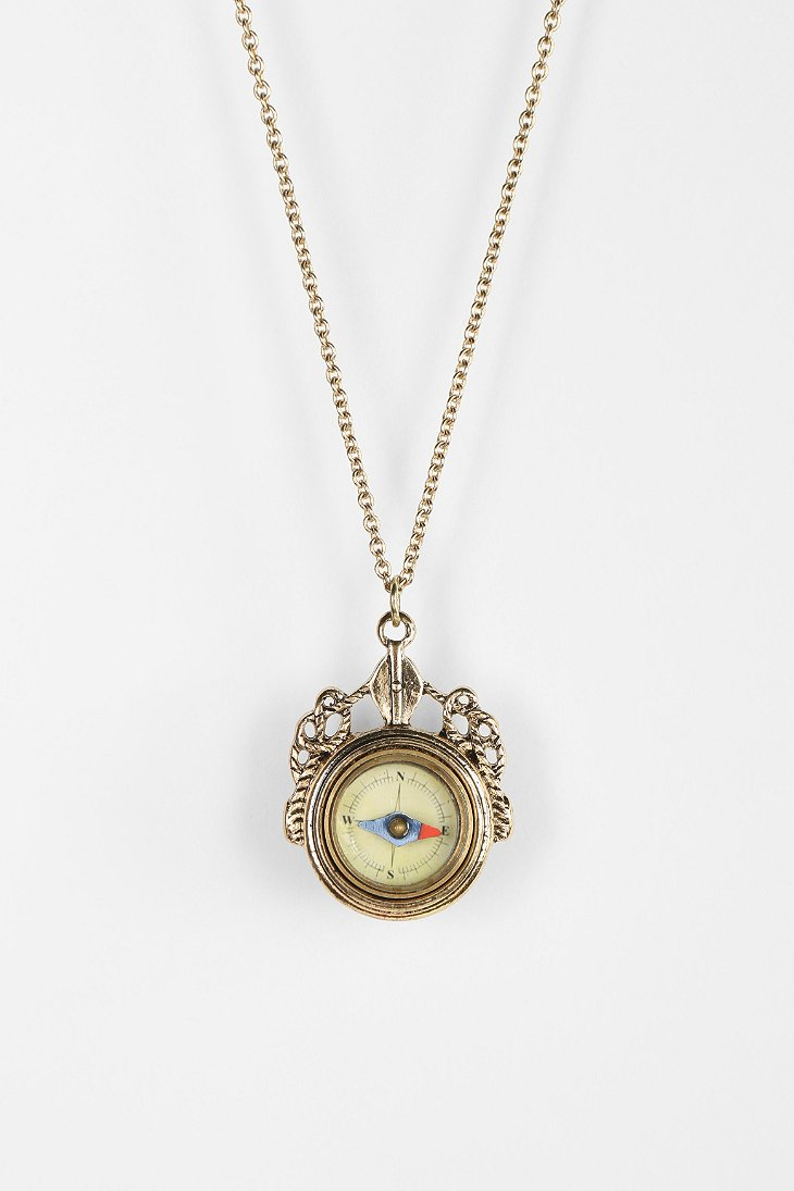 Take Me There Compass Necklace - Urban Outfitters