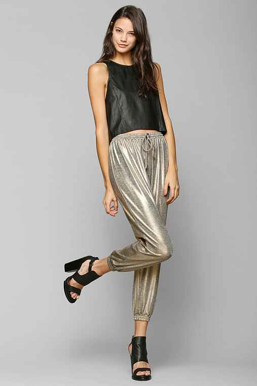Finders Keepers Begin Again Metallic Jogger Pant