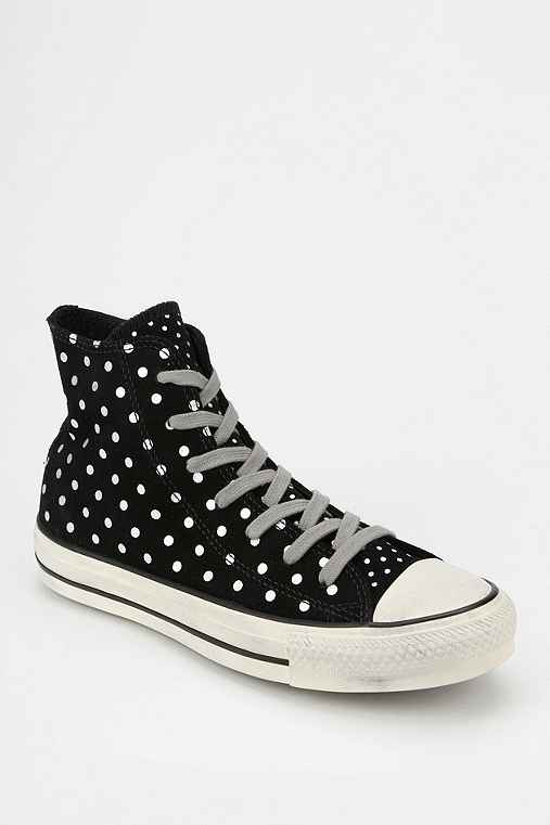 Converse Chuck Taylor All Star Polka Dot Suede Womens High
