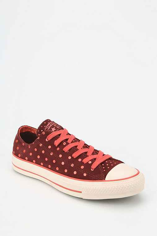 Converse Chuck Taylor All Star Polka Dot Suede Women S Low