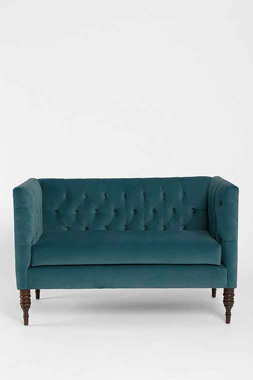 Tufted Settee,BLUE,ONE SIZE