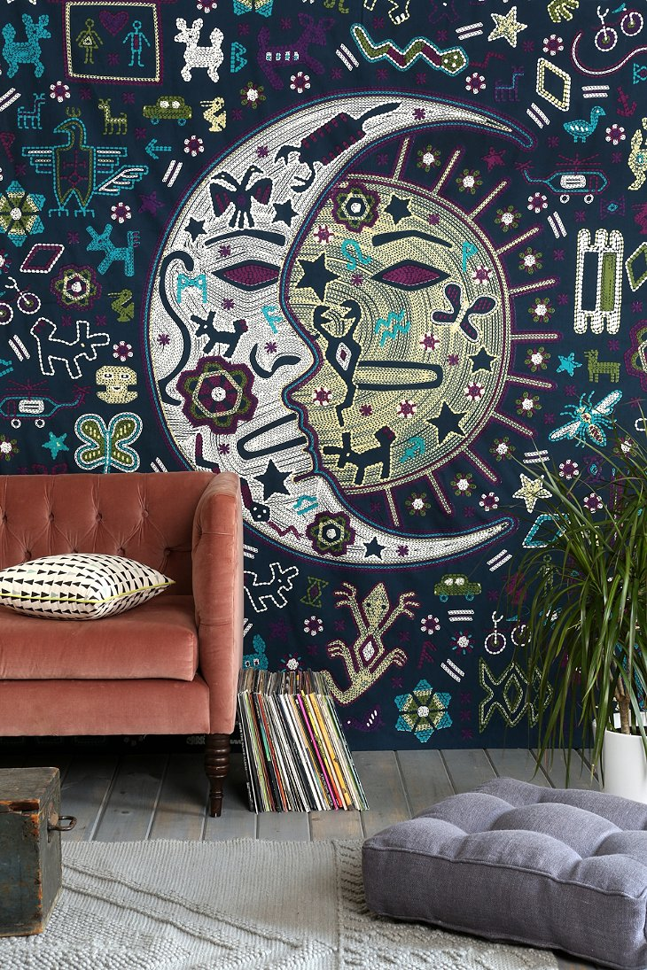 Magical thinking mystic folk tapestry urban outfitters for Space themed tapestry