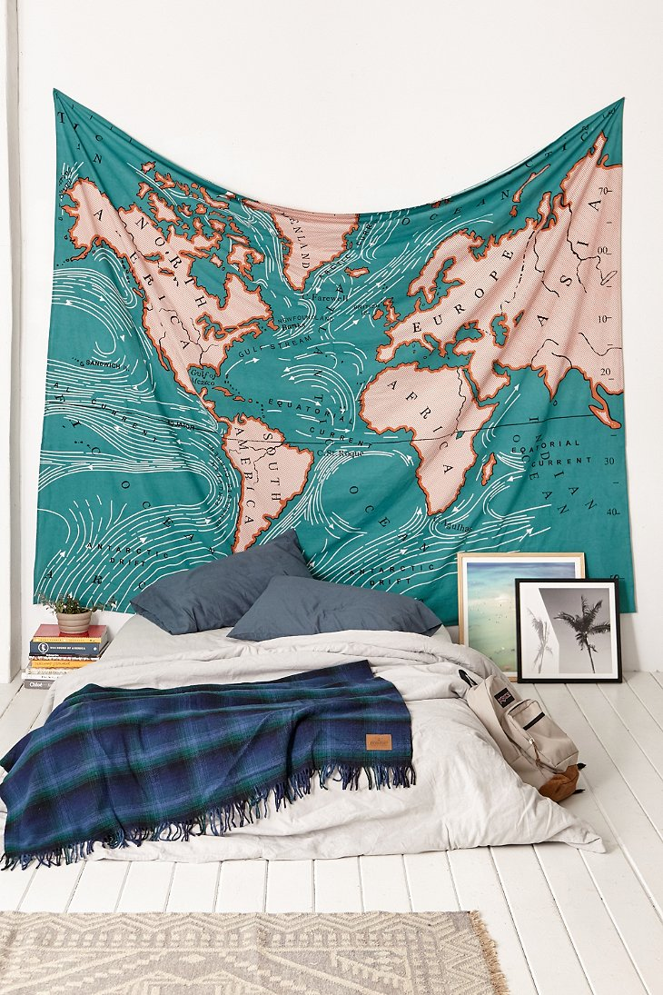 4040 locust ocean current tapestry urban outfitters for Space themed tapestry
