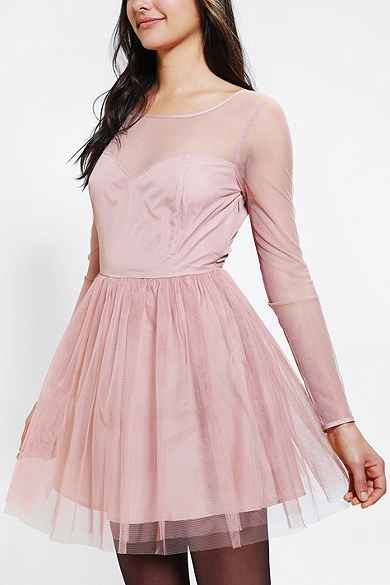 Pins And Needles Mesh-Top Tulle Dress