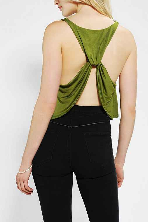 Pins And Needles Drape-Back Tank Top