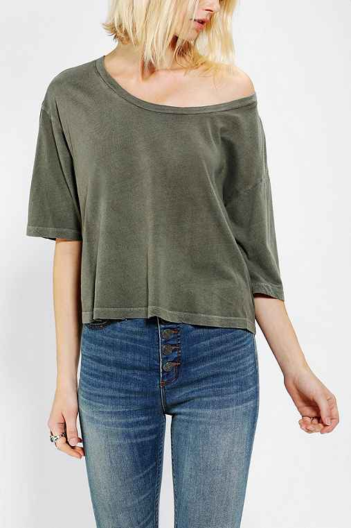 Truly Madly Deeply Cropped Oversize Tee