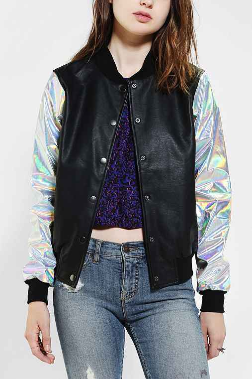 CULT By Lip Service Hologram Bomber Jacket