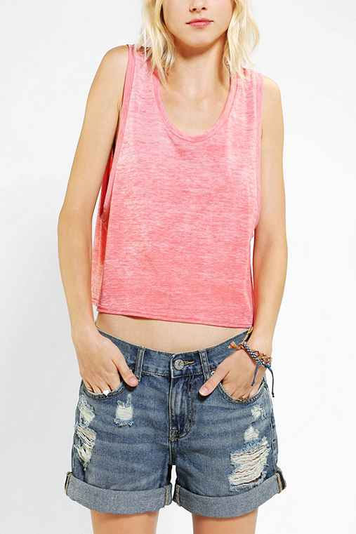 Staring At Stars Triblend Burnout Muscle Tank Top
