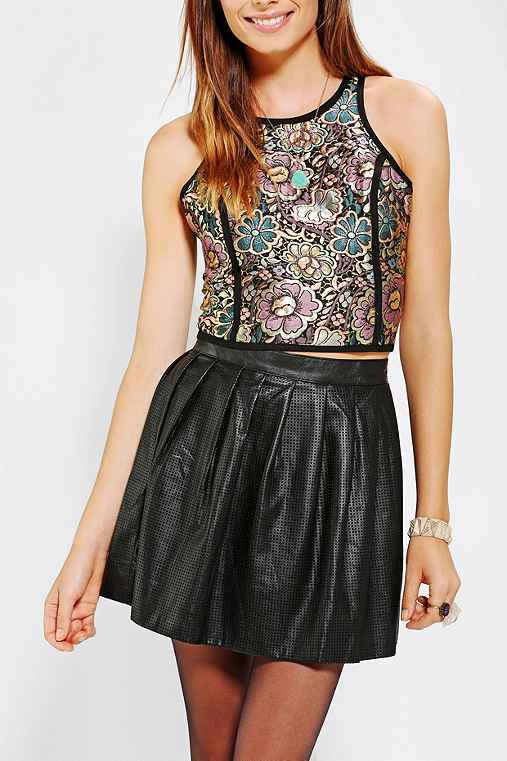 Coincidence & Chance Cropped Jacquard Tank Top
