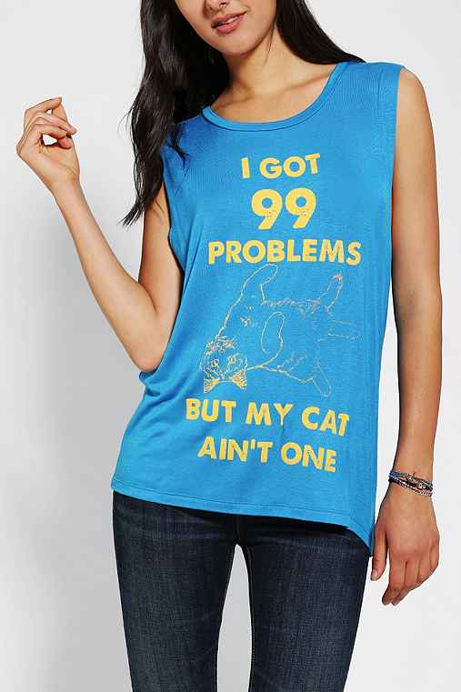 Lords of liverpool cat probs muscle tee urban outfitters for Lucky cat shirt urban outfitters