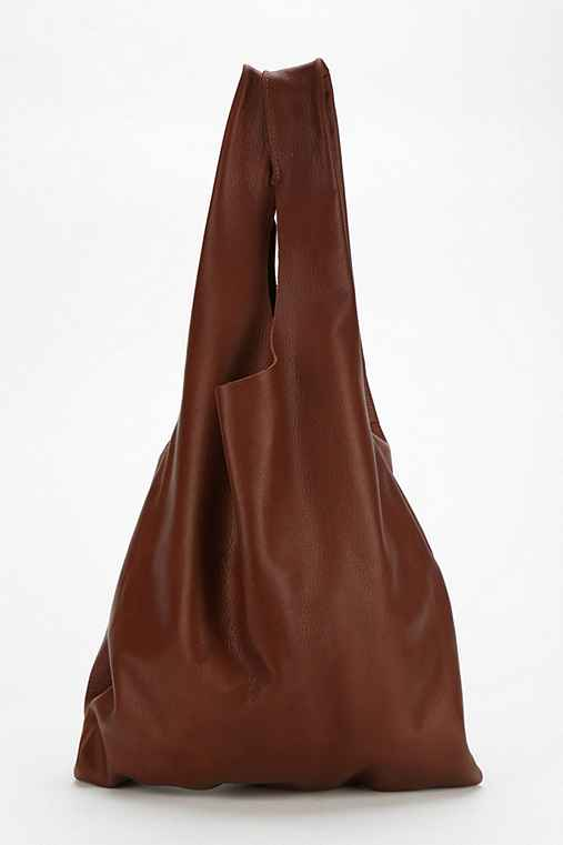 BAGGU Leather Shopper Tote Bag