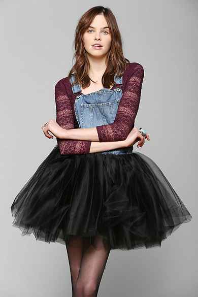 Urban Renewal Tulle-Skirt Overall Dress