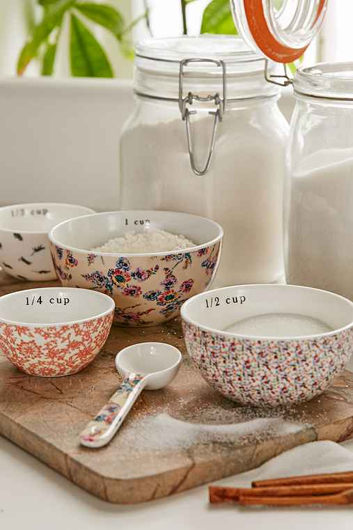 Plum & Bow Patterned Measuring Cups Set,MULTI,ONE SIZE
