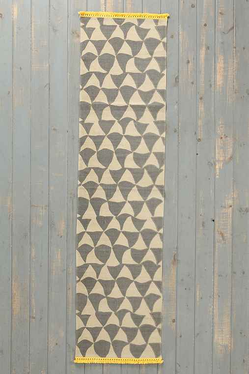 Magical Thinking Wavy Triangle Handmade Runner
