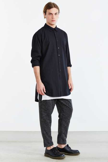Sale alerts for Urban Outfitters KC By Kill City Long Button-Down Shirt - Covvet