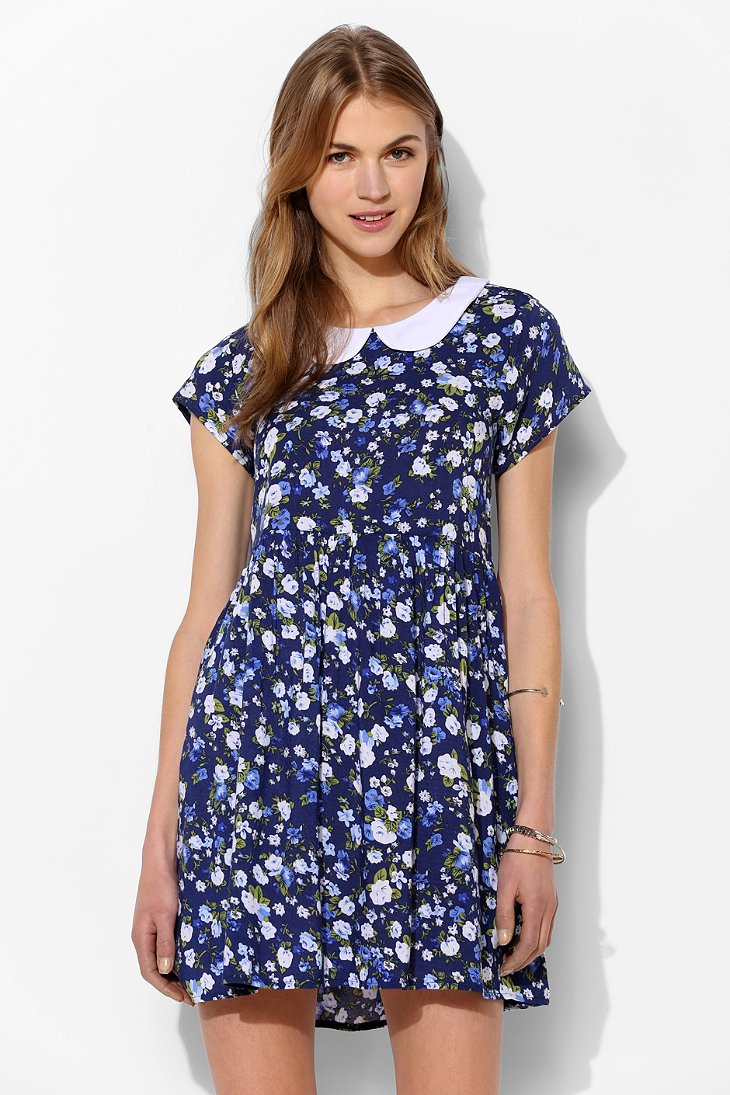 Urban style clothing-one only x urban renewal collared babydoll dress.