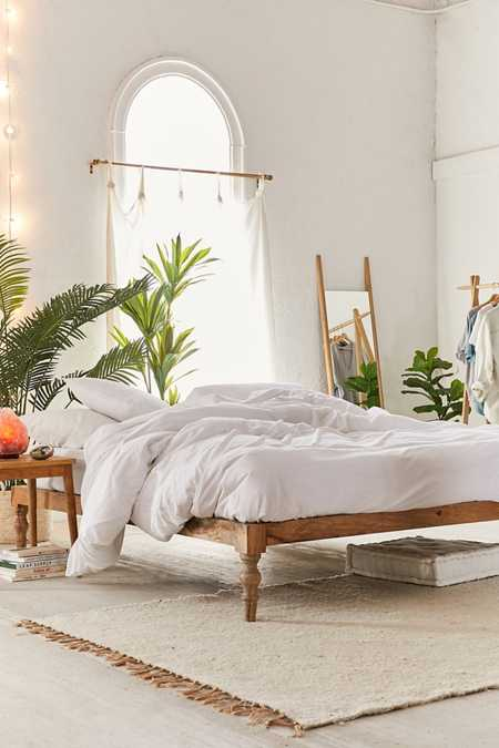 perfect wooden boho bed frame ideas