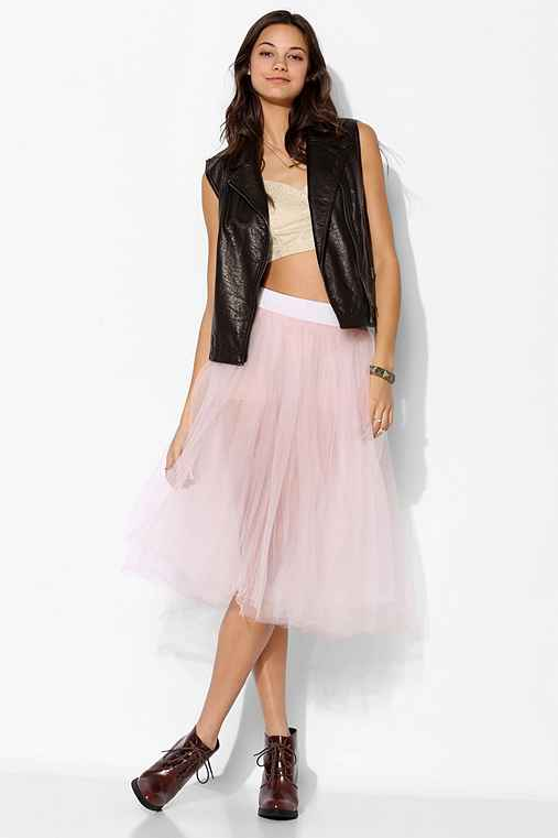 Urban Renewal Tulle Midi Skirt