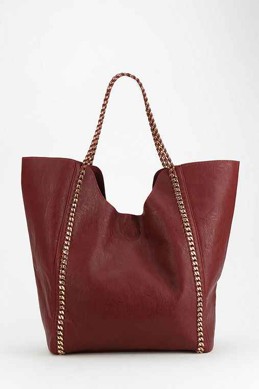 Deena & Ozzy Mace & Chain Vegan Leather Tote Bag