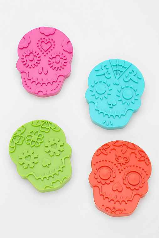 Sugar Skull Cookie Cutter Set Of 4 Urban Outfitters