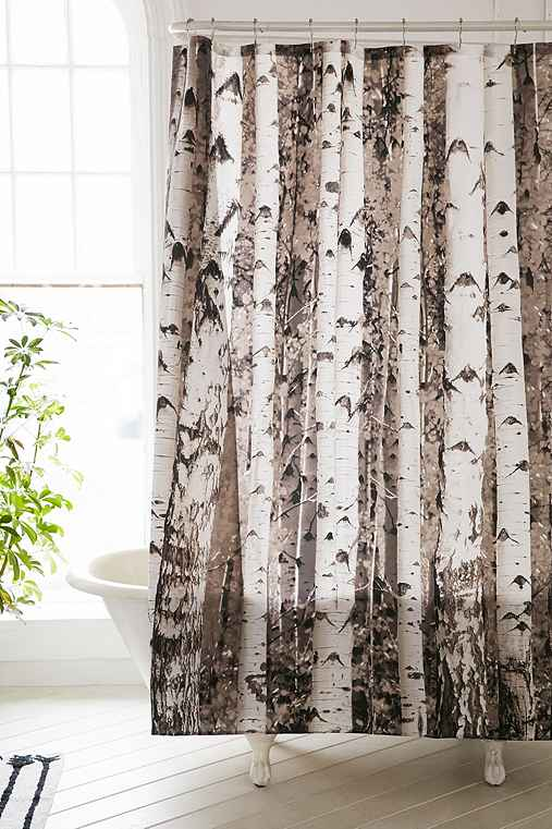 birch tree shower curtain urban outfitters