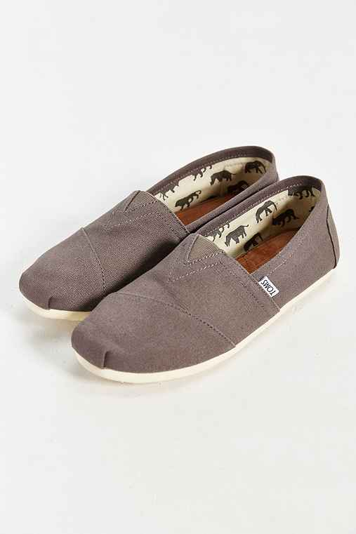 TOMS Classic Slip-On Shoe,GREY,9