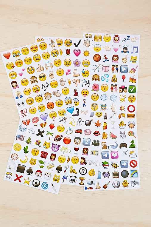 Emoji sticker sheet set