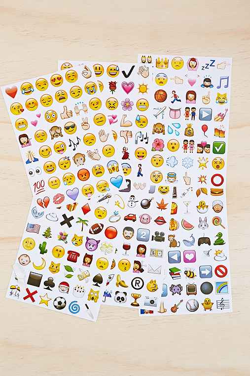 Emoji Sticker Sheet Set,ASSORTED,ONE SIZE