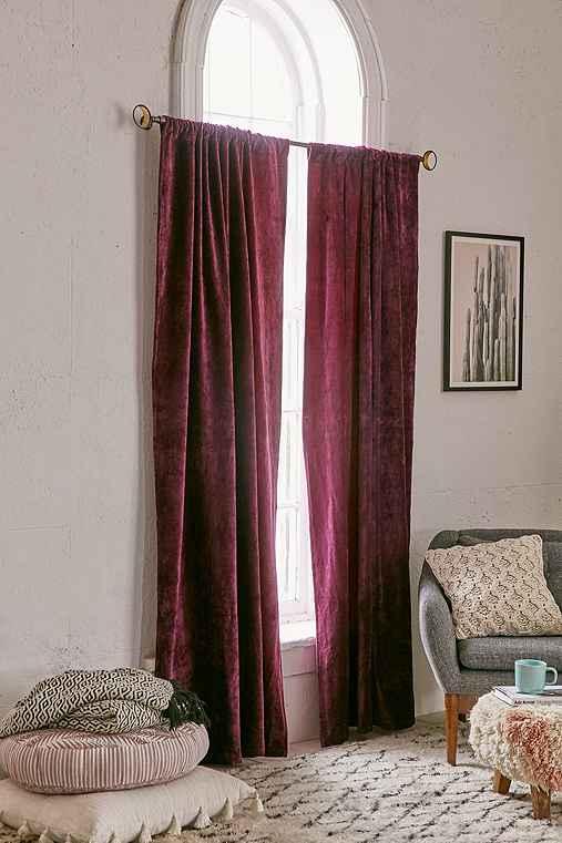 Magical Thinking Velvet Curtain,PURPLE,52X84