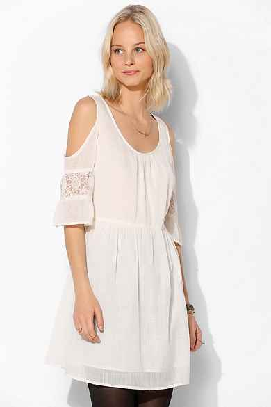 Band Of Gypsies Gauze Open-Shoulder Dress