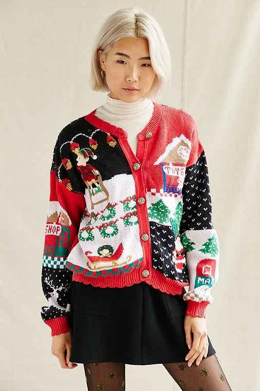 Urban Renewal Vintage Ugly Holiday Sweater,CARDIGAN,S