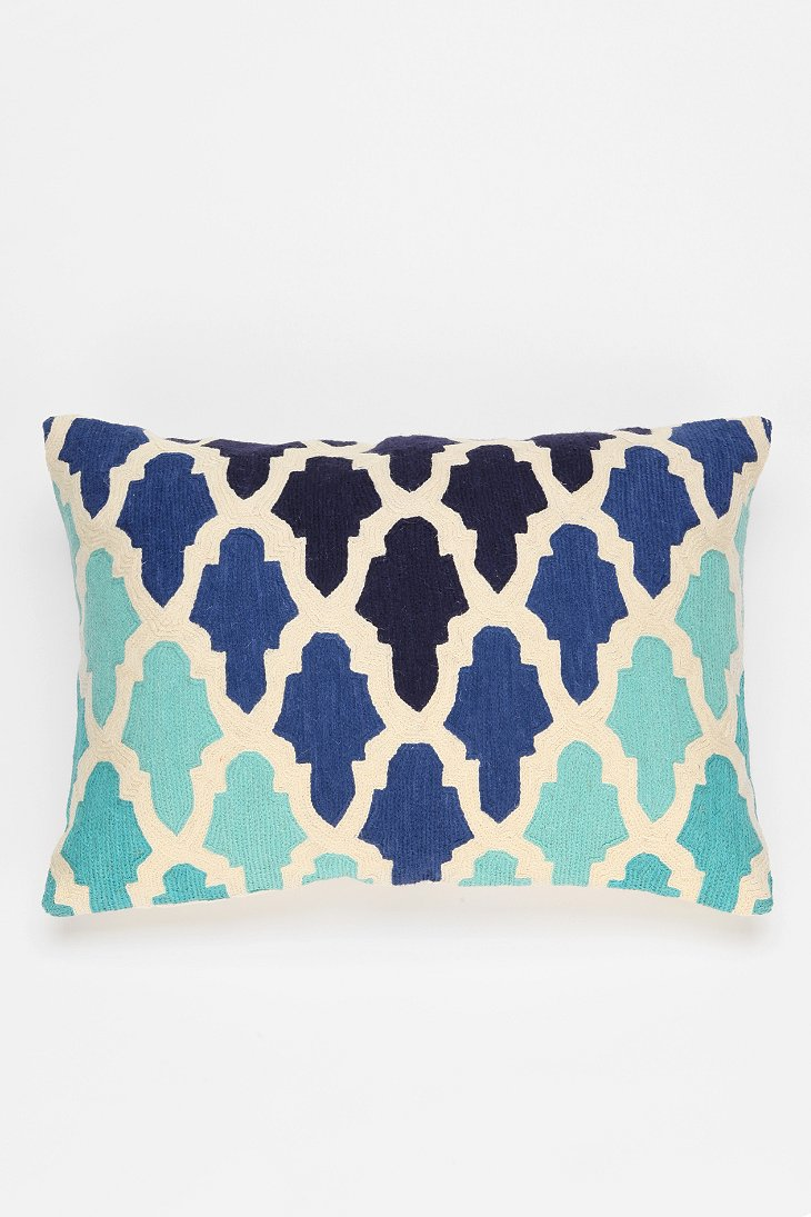 Throw Pillows Urban Outfitters : Magical Thinking Flourish Tile Pillow - Urban Outfitters