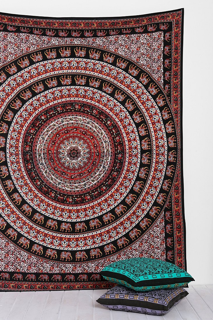 Magical Thinking Black Elephant Tapestry Urban Outfitters