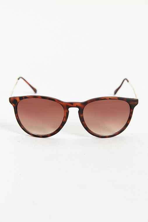 Metal Arm Classic Sunglasses,BROWN,ONE SIZE