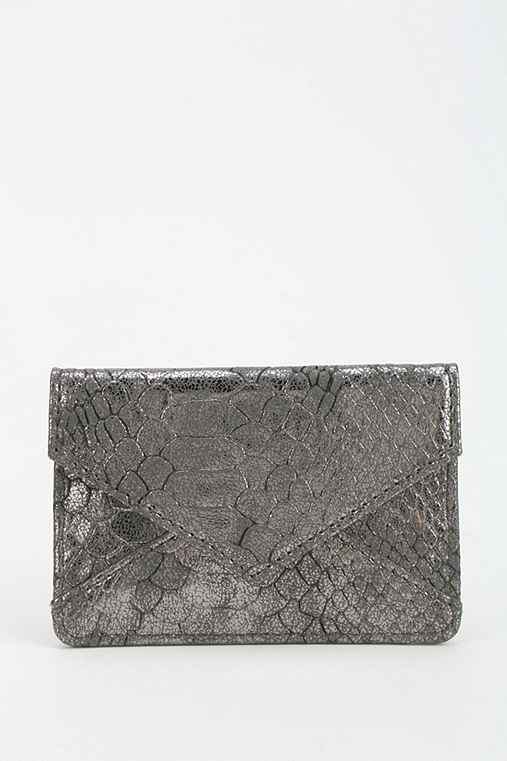 Snake-Embossed Envelope Card Holder Wallet