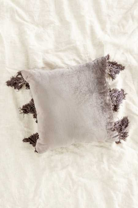 Magical Thinking Velvet Fringe Pillow