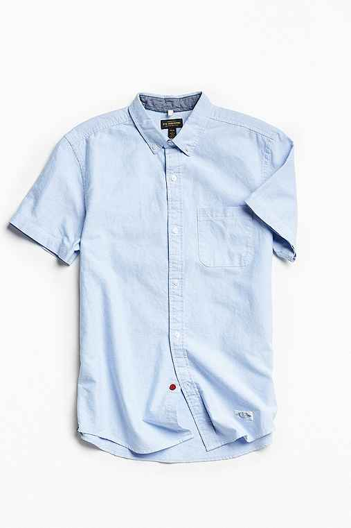 CPO Left Coast Oxford Short-Sleeve Button-Down Shirt,BLUE,XS