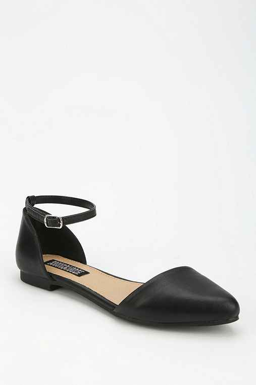 Deena & Ozzy Ankle-Strap D'Orsay Flat