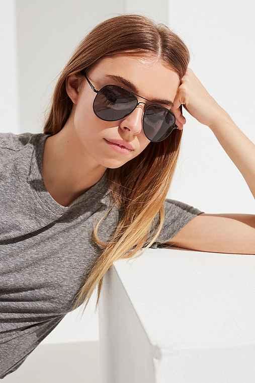 Classic Aviator Sunglasses,BLACK,ONE SIZE
