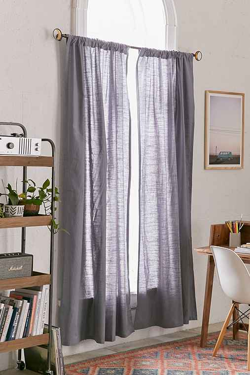 4040 Locust Cotton Slub Curtain,GREY,52X84